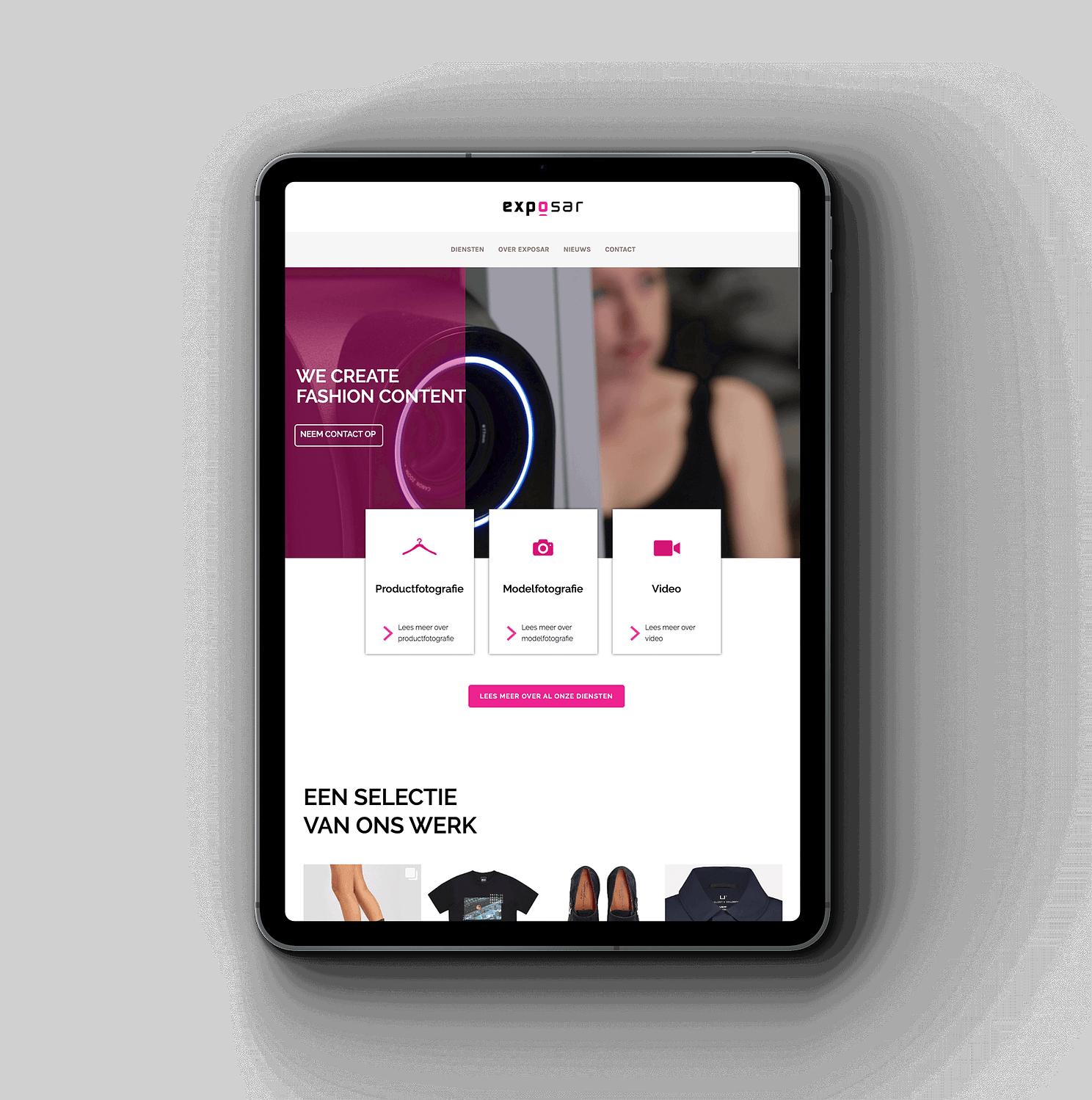 iPad met de Exposar website