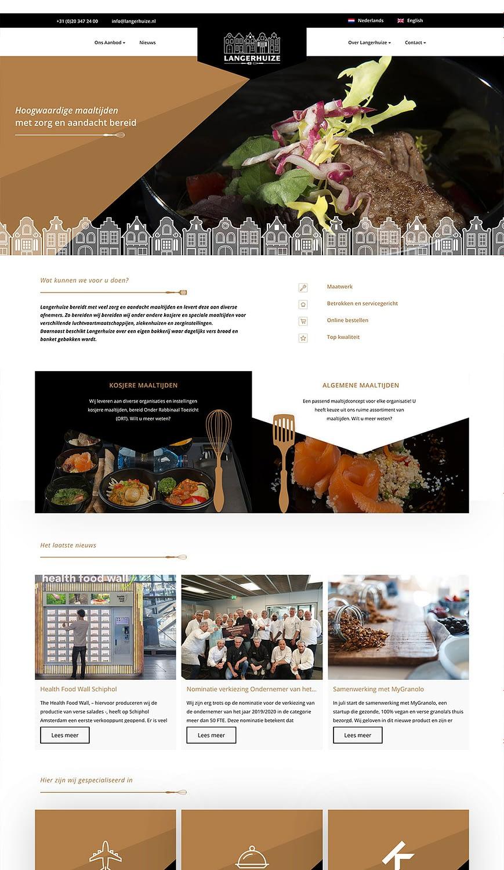Homepagina van de Langerhuize website